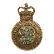 7th Queen's Own Hussars Cap Badge - Queen's Crown