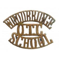 Woodbridge School, Suffolk O.T.C. (WOODBRIDGE/OTC/SCHOOL) Shoulder Title