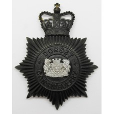 Dorset Constabulary Night Helmet Plate - Queen's Crown