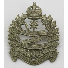 Candian Intelligence Corps Cap Badge - King's Crown