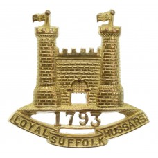 Loyal Suffolk Hussars Officer's Gilt Cap Badge