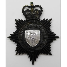 Norfolk Constabulary Night Helmet Plate - Queen's Crown