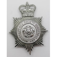 Northampton & County Constabulary Helmet Plate - Queen's Crown