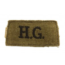 Home Guard (H.G.) Cloth Slip On Shoulder Title