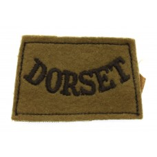 Dorsetshire Regiment (DORSET) Cloth Slip On Shoulder Title