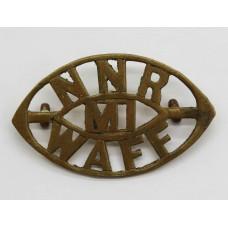 Northern Nigeria Regiment Mounted Infantry West African Frontier Force (NNR/MI/WAFF) Shoulder Title