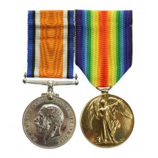 WW1 British War Medal & Victory Medal Pair - Pte. J. Kenworth