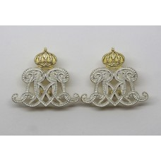 Pair of Royal Lancers Officer's Collar Badges
