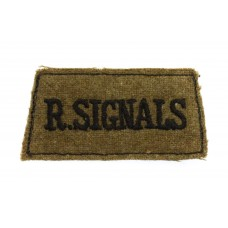 Royal Corps of Signals (R. SIGNALS) Cloth Slip On Shoulder Title