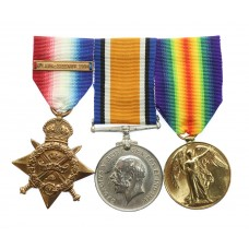 WW1 1914 Mons Star and Bar Medal Trio - L.Cpl. (Later C.S.M.) D.