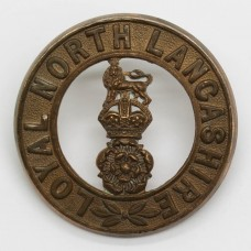 Loyal North Lancashire Regiment Helmet Plate Centre - King's Crow