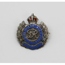 George VI Royal Engineers Enamelled Sweetheart Brooch