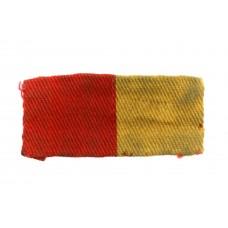 Suffolk Regiment Cloth Printed Minden Flash