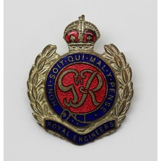 Large George VI Royal Engineers Enamelled Sweetheart Brooch