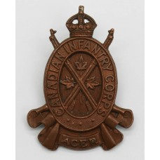 Canadian Infantry Corps Cap Badge - King's Crown