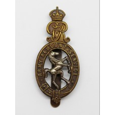 George V Army Remount Service Cap Badge
