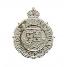 Breconshire Special  Constabulary Lapel Badge - King's Crown