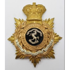 Victorian Royal West Kent Regiment Officer's Helmet Plate