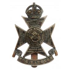 12th London Regiment (The Rangers) Cap Badge- King's Crown