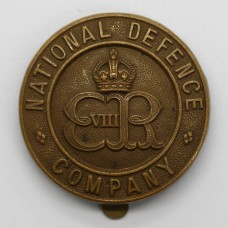 Edward VIII National Defence Company Cap Badge