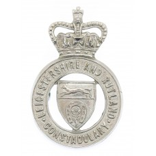 Leicestershire & Rutland Constabulary Cap Badge - Queen's Cro