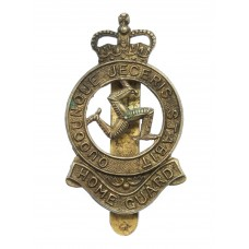 Isle of Man Home Guard Cap Badge - Queen's Crown