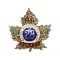 WW1 Canadian 28th (North West Battalion) Infantry Bn. CEF 1916 Hallmarked Silver & Enamel Sweetheart Brooch