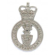 Devon & Cornwall Constabulary Cap Badge- Queen's Crown