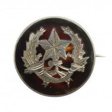 WW1 Cameronians (The Scottish Rifles) 1918 Hallmarked Silver & Tortoiseshell Sweetheart Brooch