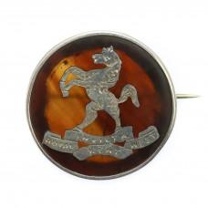 WW1 Royal West Kent Regiment 1917 Hallmarked Silver & Tortois