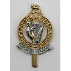 Queen's Royal Irish Hussars Anodised (Staybrite) Cap Badge - Quee