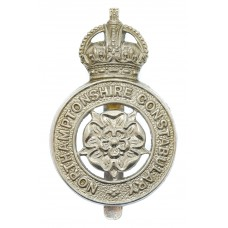 Northamptonshire Constabulary Cap Badge - King's Crown