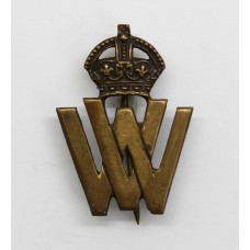 WW1 Volunteer Workers (W.V.) Lapel Badge