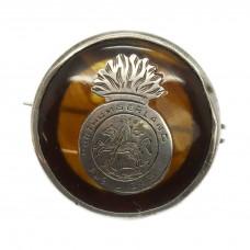 WW1 Northumberland Fusiliers 1917 Hallmarked Silver & Tortois
