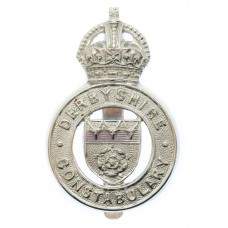 Derbyshire Constabulary Cap Badge - King's Crown