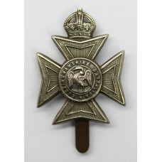 Buckinghamshire Battalion White Metal Pagri Badge - King's Crown