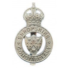 Shropshire Constabulary Cap Badge - King's Crown
