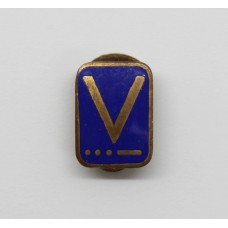 WW2 V for Victory Morse Code Home Front Enamelled Lapel Badge