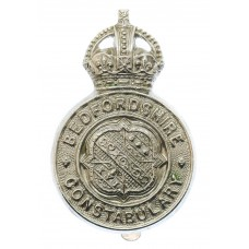 Bedfordshire Constabulary Cap Badge - King's Crown