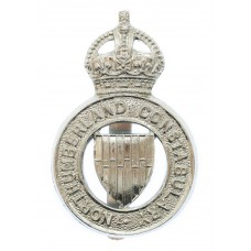 Northumberland Constabulary Cap Badge - King's Crown