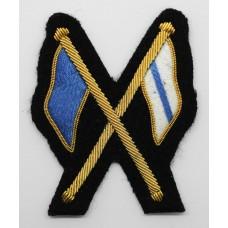 British Army Signallers Bullion Trade Badge (Black Backing)