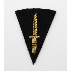 British Army Commando Qualification Bullion Arm Badge (Black Backing)