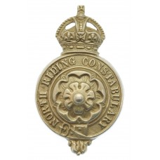 North Riding Constabulary Kepi/Cap Badge - King's Crown