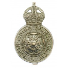 North Riding Constabulary Cap Badge - King's Crown