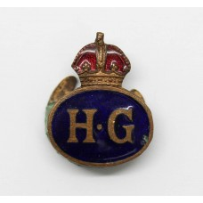 WW2 Home Guard (H.G.) Enamelled Lapel Badge