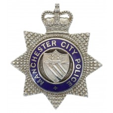 Manchester City Police Senior Officer's Enamelled Cap Badge - Que