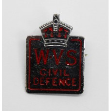 Women's Voluntary Service (W.V.S.) Civil Defence Lapel Badge - King's Crown