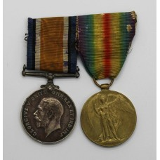 WW1 British War & Victory Medal Pair - A.W. King, Ord., Royal