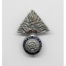 Royal Fusiliers Enamelled Sweetheart Brooch - King's Crown
