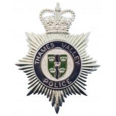 Thames Valley Police Enamelled Helmet Plate - Queen's Crown